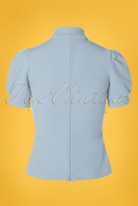Belsira 29051 Jersey Blouse in Blue 20190405 008W