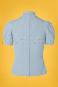 Belsira 29051 Jersey Blouse in Blue 20190405 008W