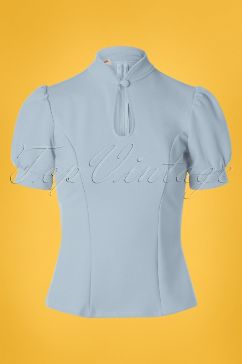 Belsira 29051 Jersey Blouse in Blue 20190405 002W