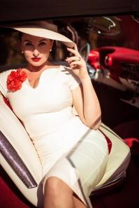 Vintage Diva 28882 Grace Dress in White 20181114 0032i