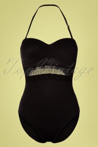 Marc & André Paris 50s Estelle Swimsuit in Black