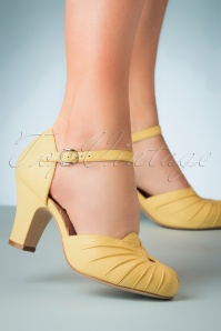 Miss L fire 30256 Amber Yellow Pump Heels 20190402 004W