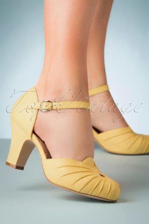 Miss L fire 30256 Amber Yellow Pump Heels 20190402 004W
