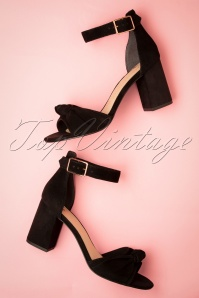 60s All Occasions Suede Sandals in Classy Black