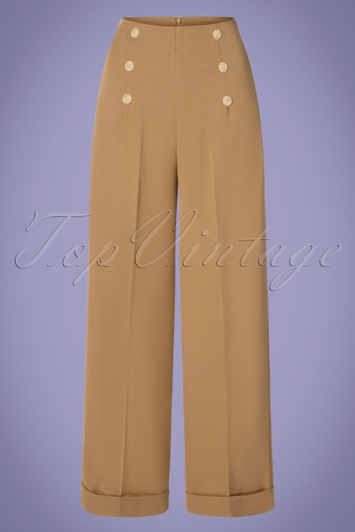 Banned Retro 30395 Trousers Tan Adventures 20190409 0002W