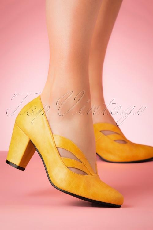Lulu Hun 27361 Yellow Heels Mustard Pump Layla 20190402 006W