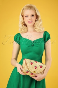 Collectif Clothing 27027 Bag Strawberry Straw Red Green 20190321 018