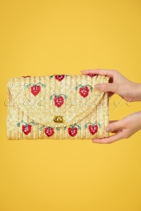 50s Alicia Straw Clutch in Natural