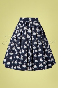Banned Retro 30389 Skirt Navy Summer Swan 20190409 0007W