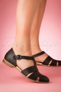 La Veintineuve 28437 Black Flat Sylvia Shoe Sandals 20190402 011W