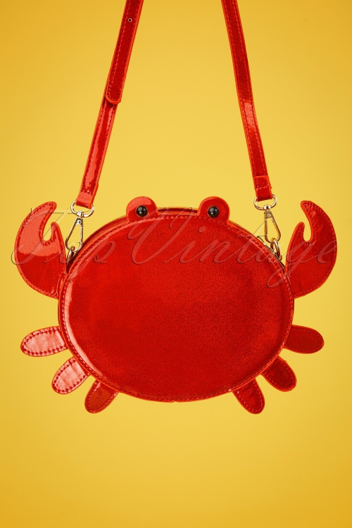 Lulu Hun 27030 Bag Crab Crossbody Red Glitter Sparkle 20190321 001 W