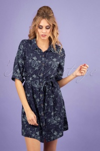 Banned 28477 Santorini Dreams Shirt Dress in Navy 20181220 0100W