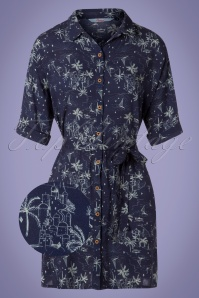 Banned 28477 Santorini Dreams Shirt Dress in Navy 20181220 002Z