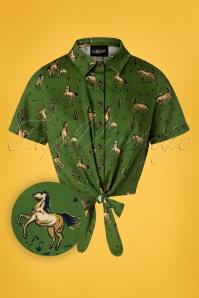 Collectif Clothing 27393 Sammy Wild West Print Tie Crop Top 20180813 003Z