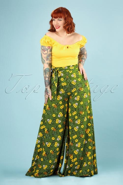 27103d44383 Collectif Clothing 27386 Kiko Pineapple Slice Trousers 20180816 007W