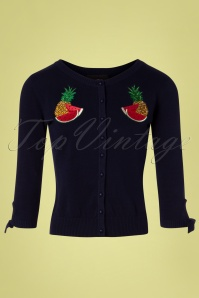 Collectif Clothing 27382 Sally Tropical Fruit Cardigan 20180813 002W