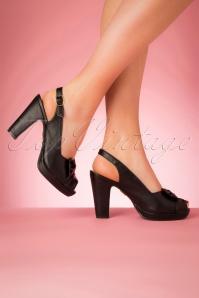 Lulu Hun 27334 Heels Black Bow Peeptoe 20190402 015W