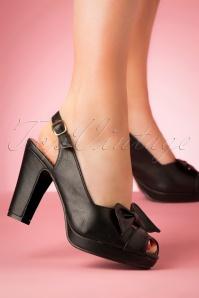 Lulu Hun 27334 Heels Black Bow Peeptoe 20190402 005W