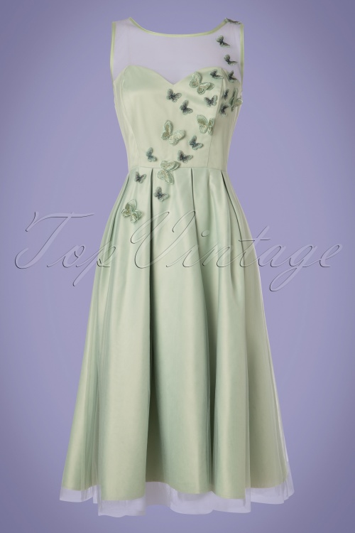 Collectif Clothing 27471 Tiana Butterfly Occasion Swing Dress 20180816 003W