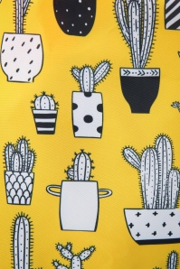 Collectif Clothing 27024 Crissa Bag Shopper Yellow Cacti Black White 20190320 002