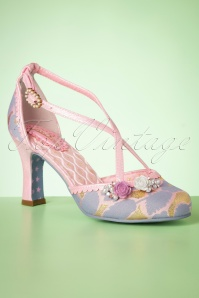 50s Evangeline Pumps in Purple