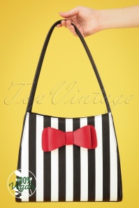 Lola Ramona 26627 Bag Red Bow White Black Striped 20190321 001 W