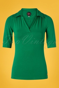 Tante Betsy 60s Nellie Shirt in Green