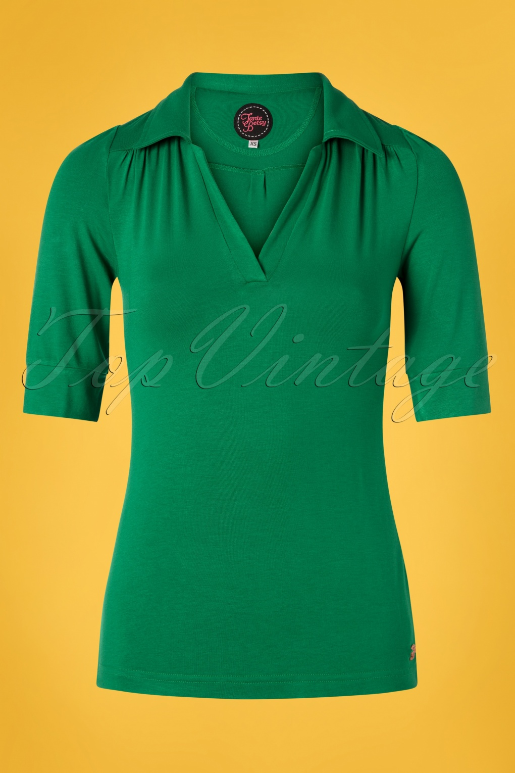 60s Shirts, T-shirt, Blouses | 70s Shirts, Tops, Vests 60s Nellie Shirt in Green �39.60 AT vintagedancer.com