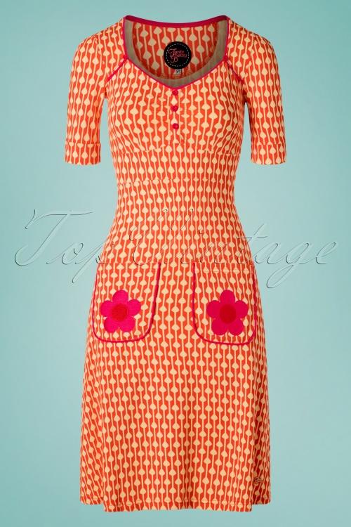 Tante Betsy 26659 Aline Dress Lola Drop Orange 20190411 0001W
