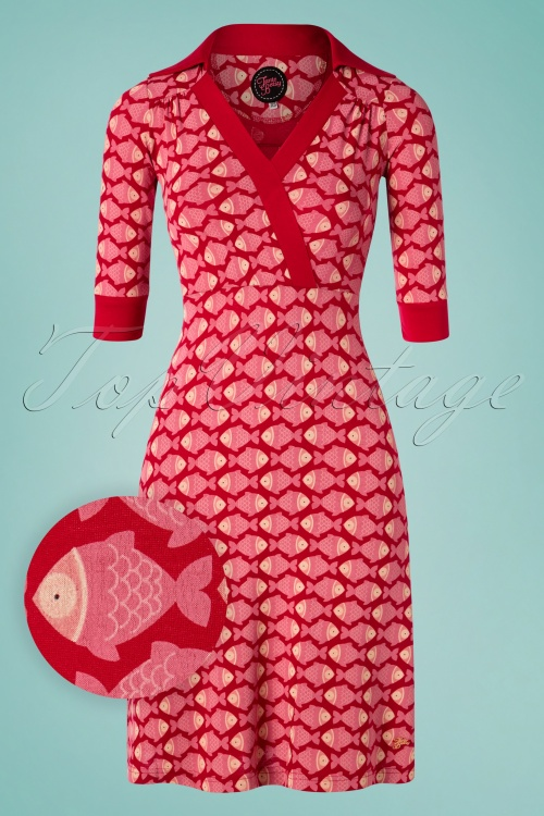 Tante Betsy 26660 Aline Dress Zoe Fish Red Pink 20190411 0001W1