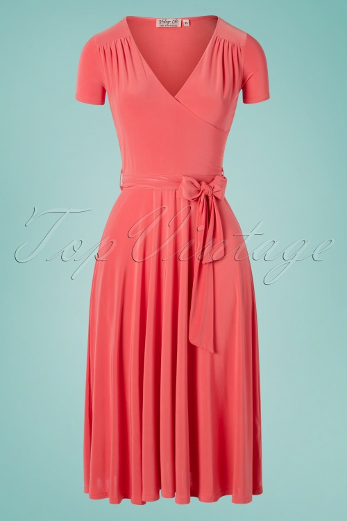 Vintage Chic 30253 Faith Plain Coral 20190412 003W
