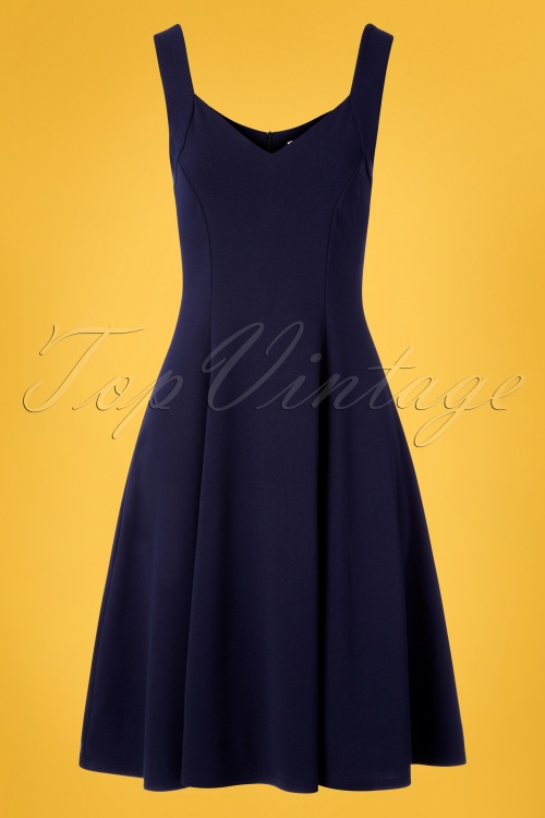 Vintage Chic 30414 Fit and Flare Navy 20190412 002W