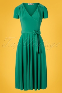 50s Faith Swing Dress in Sea Green