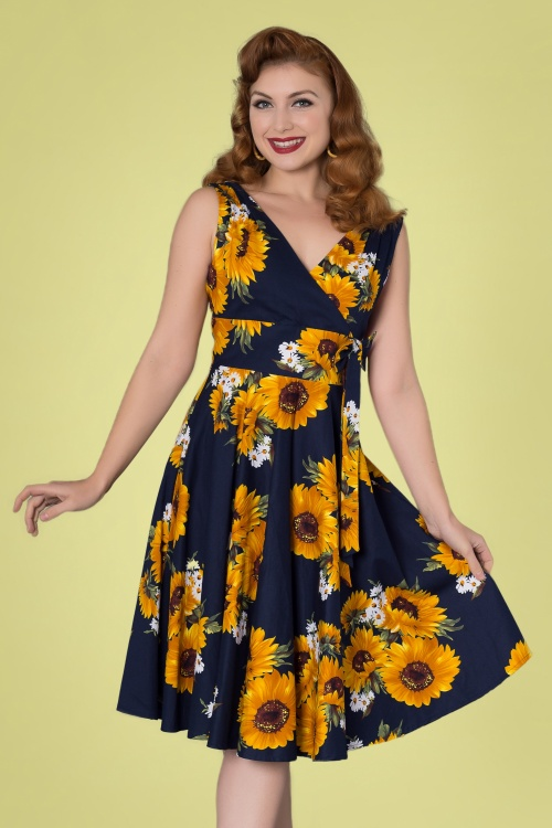 Sheen 29012 Swingdress Sunflower Black 20190415 0024W