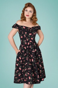 Sheen 29009 Swingdress Roses Black 20190415 0020W