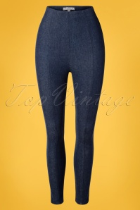 Sienna High Waist Cigarette Pants Années 50 en Denim