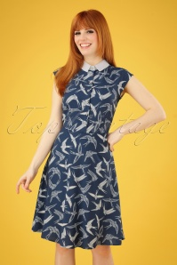 Bunny 28822 Lilou Swallow Dress in Blue 20190311 002 020W