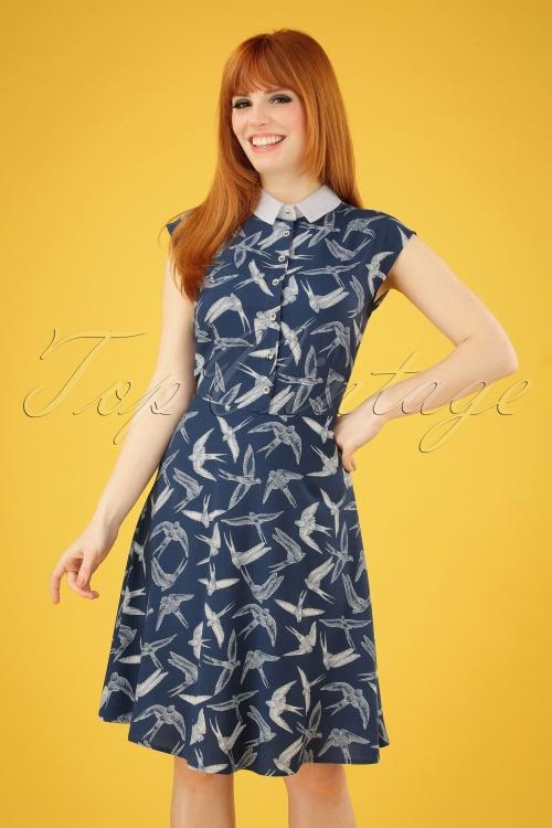 Bunny 28822 Lilou Swallow Dress in Blue 20190311 002 020W
