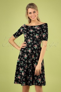 60s Roswitas Dolcevita Dress in Foxy Flower