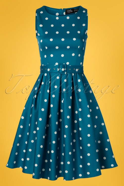 Dolly And Dotty 29139 Swingdress Blue Polkadots 20190415 0003W
