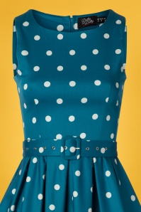 Dolly And Dotty 29139 Swingdress Blue Polkadots 20190415 0003V