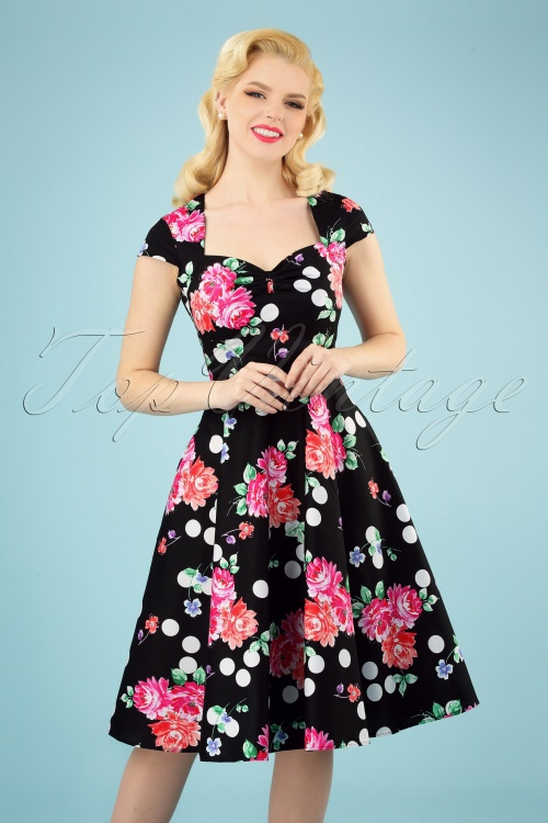 Bunny 28829 Carole's 50s Floral Swing Dress 20190225 006 020W