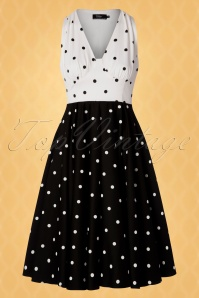 Vintage Diva 28880 Swingdress Polkadots Black White 20190415 0015W
