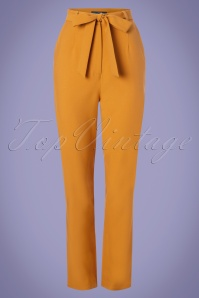 50s Kloma Paper Bag Trousers in Mustard