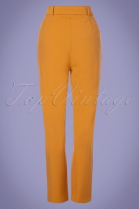 28fc9a9b98d ... Collectif Clothing 27451 Kloma Plain Trousers in Mustard 20180817 004W
