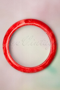 Collectif Clothing 50s Sandra Marble Bangle in Red