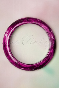 Collectif Clothing 50s Sandra Marble Bangle in Purple
