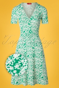 Who's That Girl 60s Krista Laurel And Hardy Dress in Green