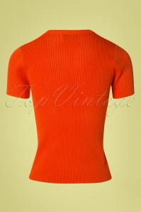 Compania Fantastica 27344 Knitted Top in Orange 20190416 008W
