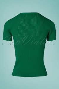 Compania Fantastica 27343 Knitted Top in Green 20190416 006W